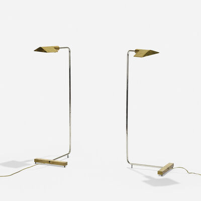 Cedric Hartman, 'floor lamps model 1UWV, pair', 1966