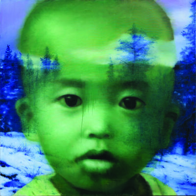 Li Tianbing, 'Green Self-Portrait with the Forest', 2010