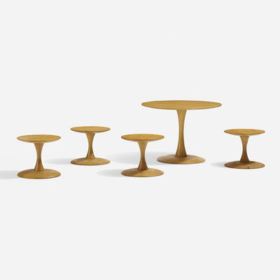 Nanna Ditzel, 'Toadstool Table And Four Stools', 1961