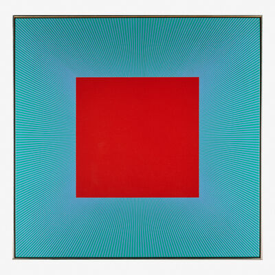 Richard Anuszkiewicz, 'Red Square with Green and Lavender', 1978