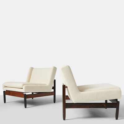 Sergio Rodrigues, 'Pair of Vivi Chairs', 1950-1959