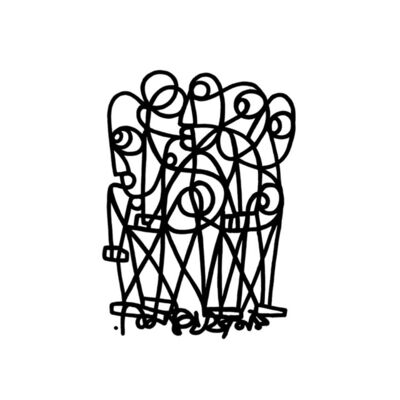 "Nissim Ben Aderet, '""Too tied""', 2018"