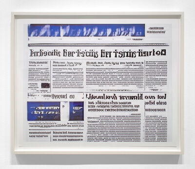 Jason Salavon, 'Narrative Frame (Newspapers 4)', 2019
