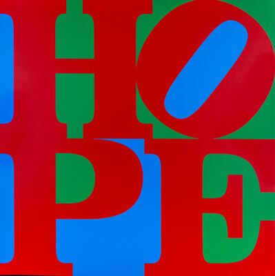 Robert Indiana, 'HOPE Red/Green/Blue', 2017