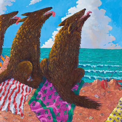 Anne Coe, 'Catching Some Rays in San Diego Bay', 1985