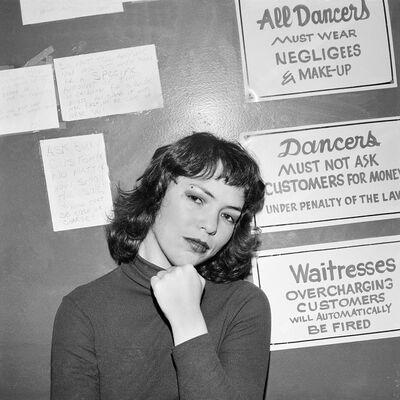 Meryl Meisler, 'Self-Portrait, Playmate Hostess, NY, NY December 1978', 1978