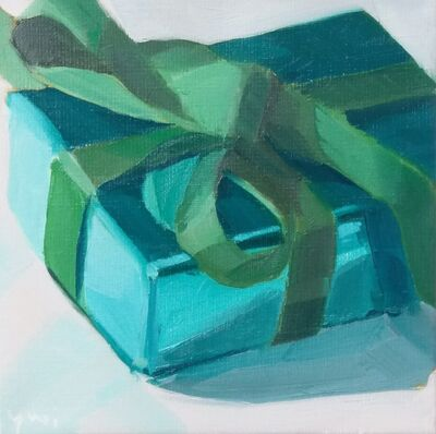 Yuri Tayshete, 'Green Gift Box Wrapped with Metallic Paper', 2019