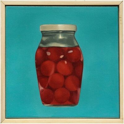 Beth Edwards, 'Jar of Cherries II, Vibrant Oil Painting', 2000-2009