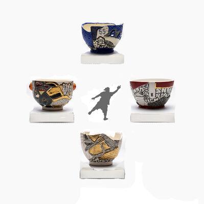 Roberto Lugo, 'Four Stunting Bowls', 2018