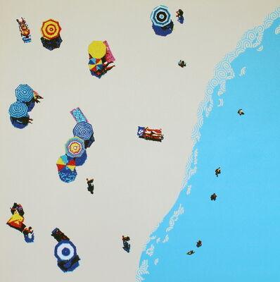 Natan Elkanovich, 'Aerial beach 2 - landscape painting', 2018