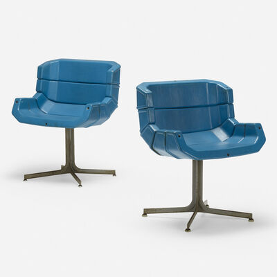 George Nelson & Associates, 'Rare Five-Leaf chairs from the 1964 New York World's Fair, pair', 1963