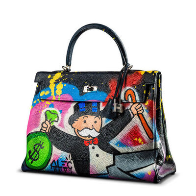 Alec Monopoly, 'Hermes Bag - Monopoly with Cane and $ Bag', ca. 2020