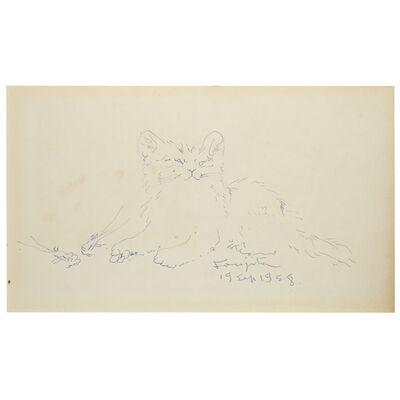 Léonard Tsugouharu Foujita, 'Le Chat', 1958