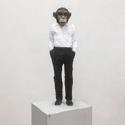 Stephan Balkenhol, 'Man with monkey head', 2016