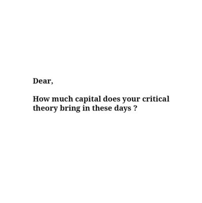 UBIK, 'Capital Critical Theory'
