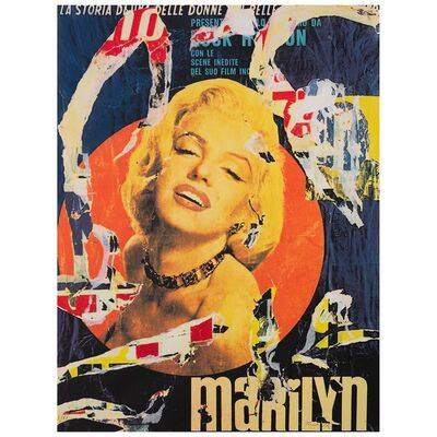 Mimmo Rotella, 'Marilyn', 1991