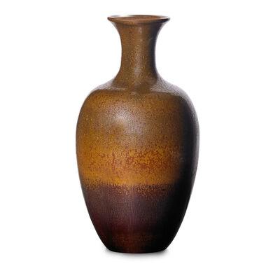 Charles F. Binns, 'Fine baluster vase, copper crystalline and hare's fur glaze', 1930