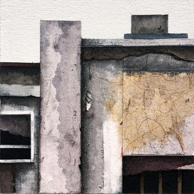 Seth Clark, 'Roof Top Blocks (in purple hues) no. 2', 2017