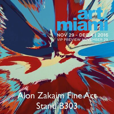 Alon Zakaim Fine Art at Art Miami 2016, installation view