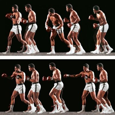 Neil Leifer, 'Neil Leifer. 'Ali Invents the Double-Clutch Shuffle, 1966' Dye-sublimation print on ChromaLuxe aluminum panel', 2020