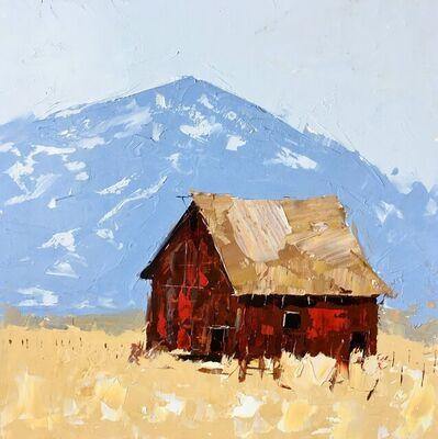 Sandra Pratt, 'Red Barn in Yellow Field', 2021