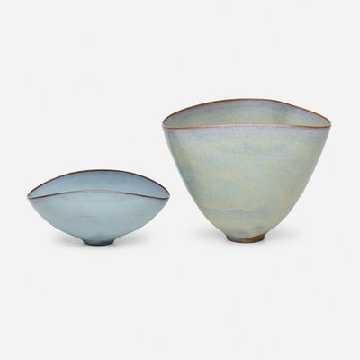 Gertrud Natzler, 'bowls, set of two', c. 1960