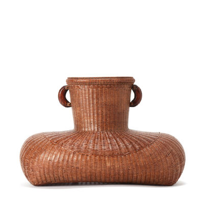 Tanabe Chikuunsai II, 'Hanging Flower Basket With Wood Ears 19 1130', 1910-2000