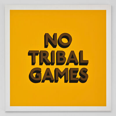 Tim Fishlock, 'NO TRIBAL GAMES', 2019