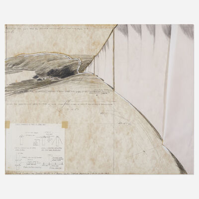Christo and Jeanne-Claude, 'Running Fence (project for Sonoma County and Marin County, California)', 1974