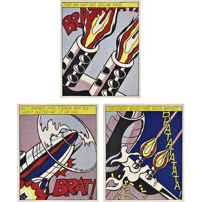 Roy Lichtenstein, 'As I Opened Fire Triptych (Corlett App.5)', 1964