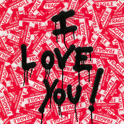 Mr. Brainwash, 'I Love You', 2019
