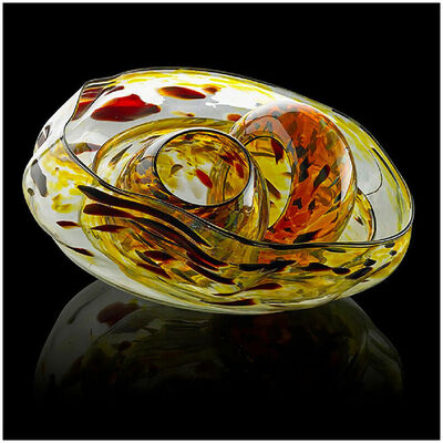 Dale Chihuly, 'Dale Chihuly Original 4 Piece Basket Set Hand Blown Glass Seaform Signed Artwork', 1991