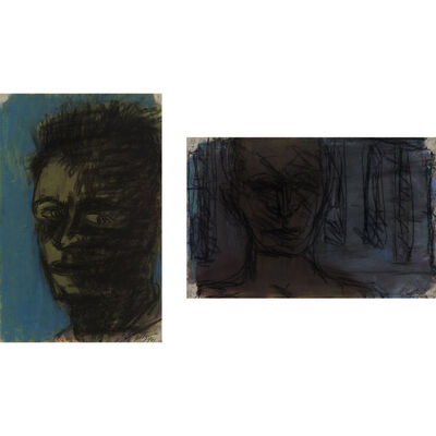 Lester Johnson, '(i) Untitled, (ii) Man's Head'