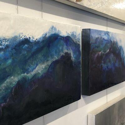 Julia Ross, 'West Coast Geode Encaustic Diptych', 2018