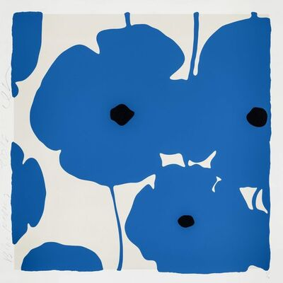 Donald Sultan, 'Blue Poppies 2018', 2018