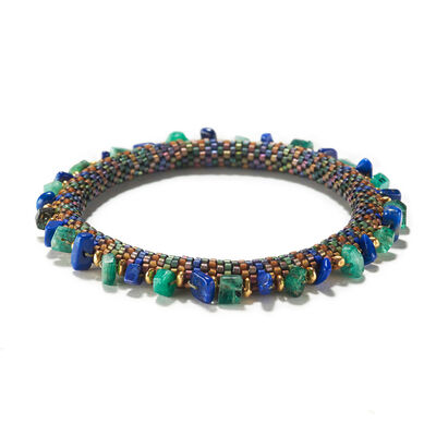 Claire Kahn, 'HOLIDAY EMERALD AND LAPIS BRACELET', ca. 2018
