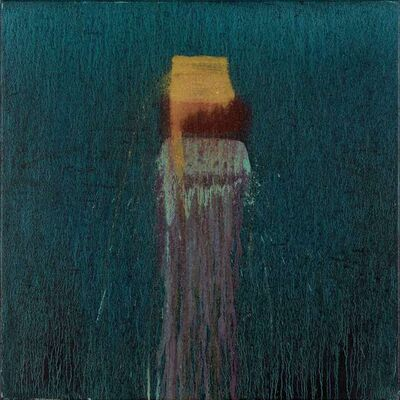 Pat Steir, 'Small Blue with Gold, Red and Green', 2003