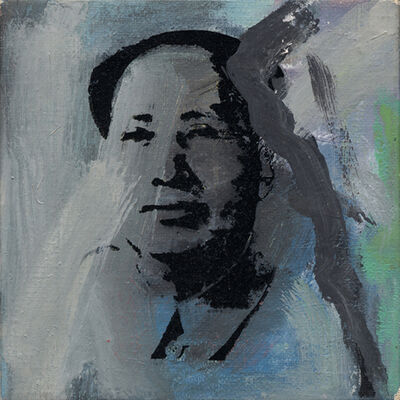"Richard Pettibone, '""Andy Warhol, Mao""', 1975"