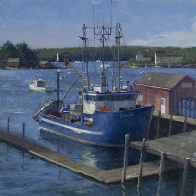 Donald W. Demers, 'A Local Character, Boothbay Harbor, Maine', 2019