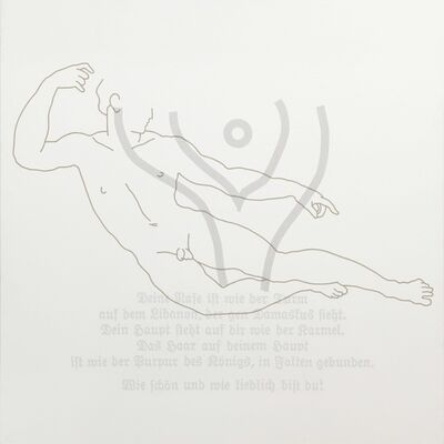 Rune Mields, 'Über die Schönheit der Männer: Der Liegende', 1984