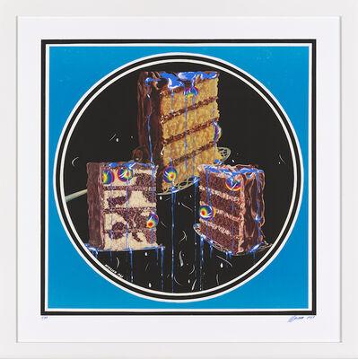 Christian Ludwig Attersee, 'Torte mit Speisekugeln und Speiseblau (Backe, backe Kuchen)'