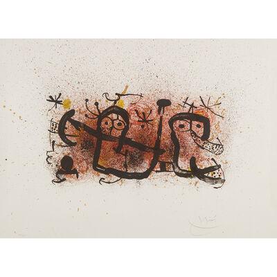 Joan Miró, 'Ma De Proverbis Plate 3', 1970
