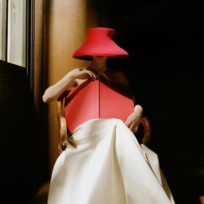 Rodney Smith, 'Bernadette in Red Hat with Book, New York Public Library', 2003