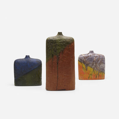Marcello Fantoni, 'vases, collection of three', c. 1960