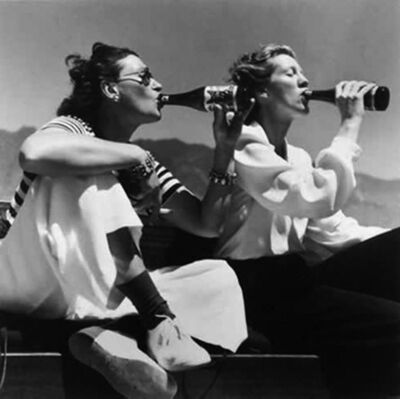 Toni Frissell, 'Two Models Drinking Coke', 1940s
