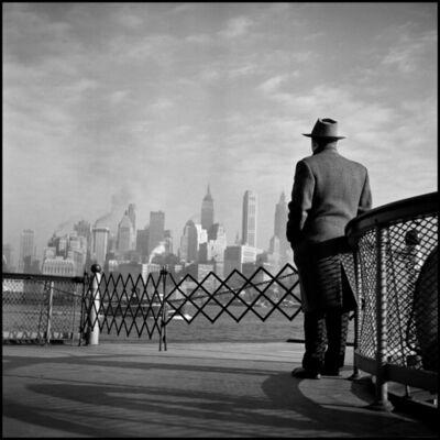 Burt Glinn, 'USA. New York City. View of Lower Manhattan from the Staten Island Ferry', 1951
