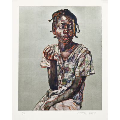 Hung Liu 刘虹, 'South - Silver', 2017