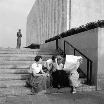 Vivian Maier, 'VM1954W02949 - Flushing Queens, NY, 195, Women on Stairs', Printed 2017