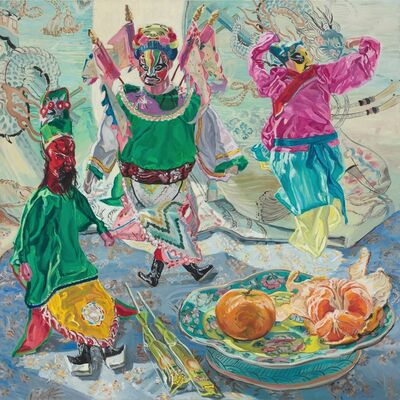 Janet Fish, 'Chinese Puppets', 1988