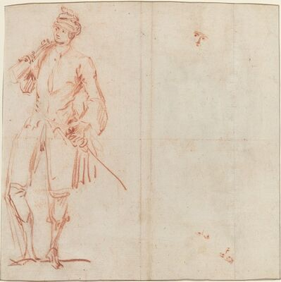 Jean-Baptiste Joseph Pater, 'A Comic Actor Dressed as a Gentleman [recto]', ca. 1729